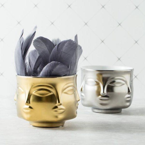 keramik vase gesichter