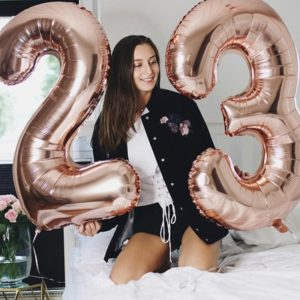 folienballons zahlen geburtstag ballon