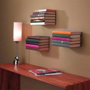 Bücherregal Wandregal unsichtbar verschiedene Farben