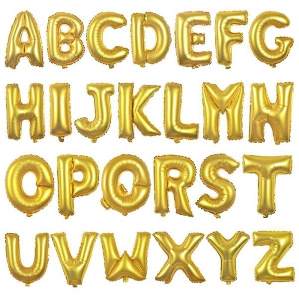 Folienballon Buchstaben rose gold silber