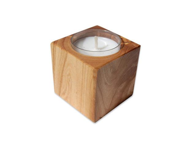 Kerzenhalter Holz Cube